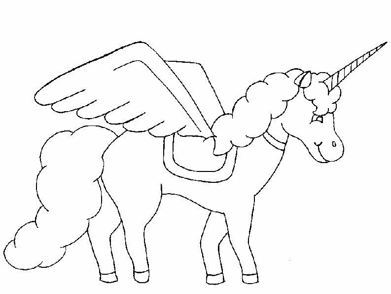 Zeichnung Nr. 7 einhorn ausmalen