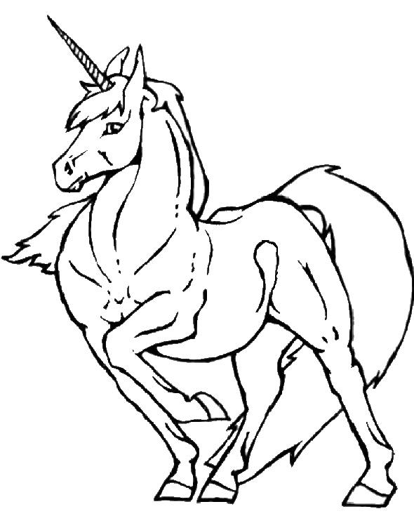 Zeichnung Nr. 9 von Einhorn zum malen