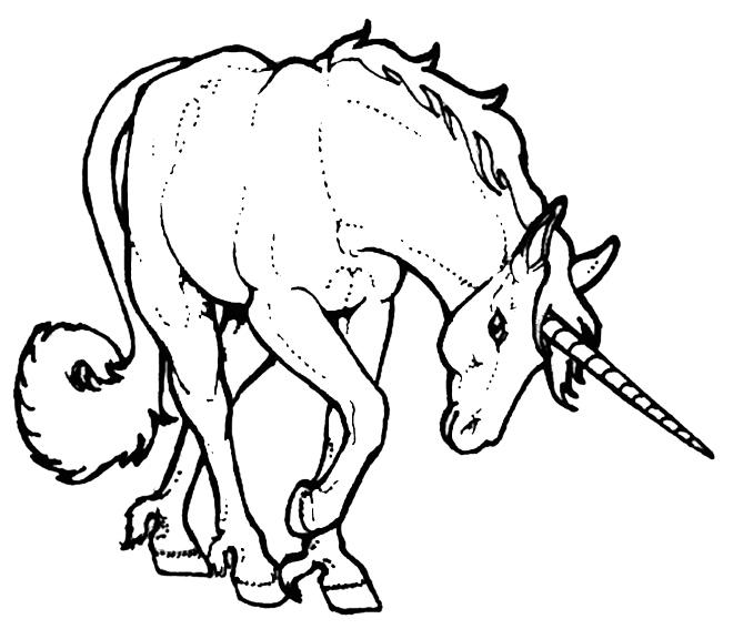 Zeichnung Nr. 10 von Einhorn zum malen