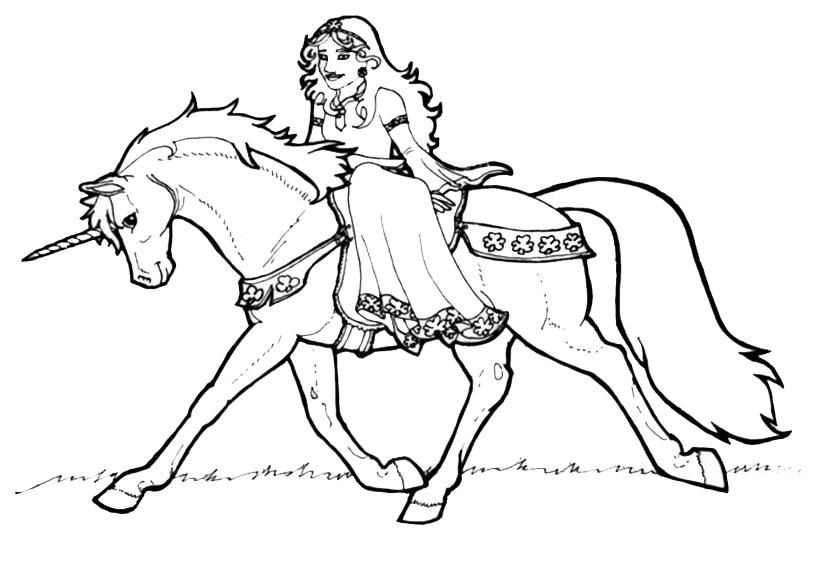 Zeichnung Nr. 11 von Einhorn zum malen
