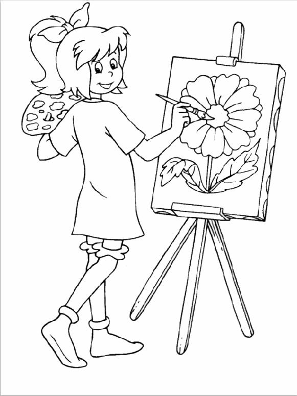 Bibi ein Bild zu malen