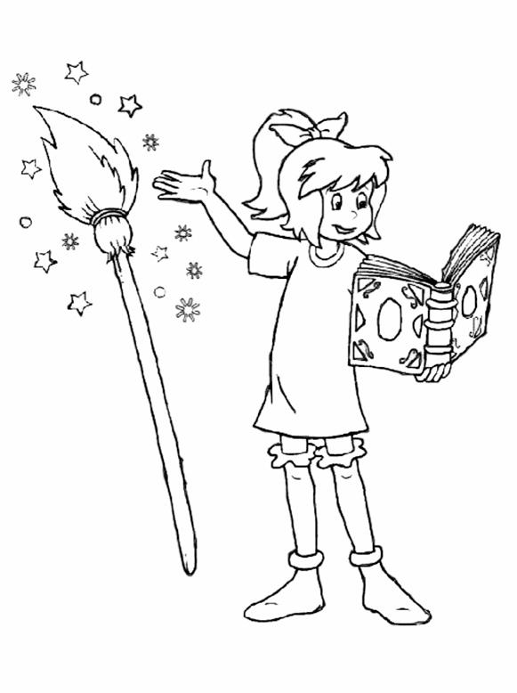 Bibi macht Magie mit seinem Broom