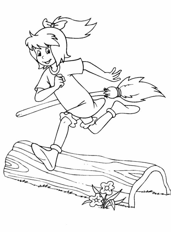 Bibi läuft mit seinem Broom