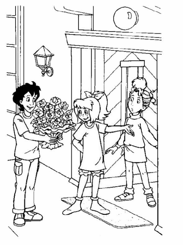 Bibi und seine Freunde mit Blumen