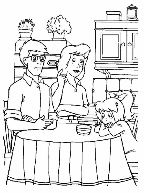 Bibi mit ihren Eltern