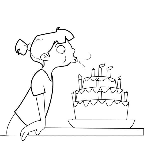 Blowing Kerzen Geburtstagskuchen