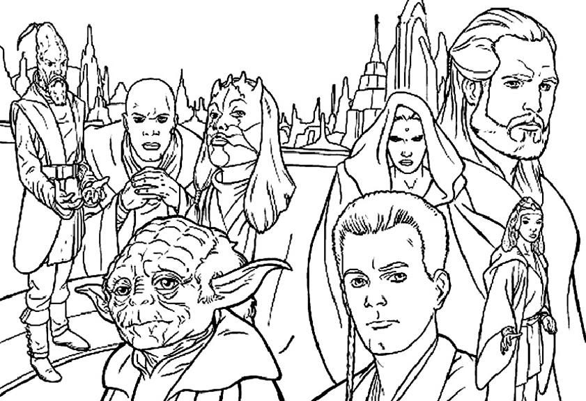 Mehrere Stars von Star Wars