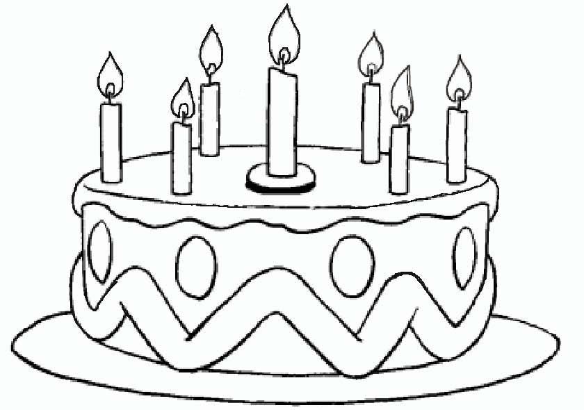 Geburtstag Torte mit 7 Kerzen