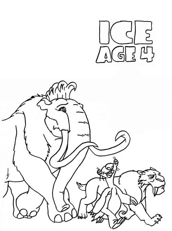 ice age 4 ausmalen