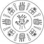 Geburtstag Mandala