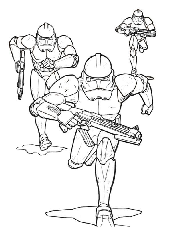 Star Wars Soldaten anzugreifen