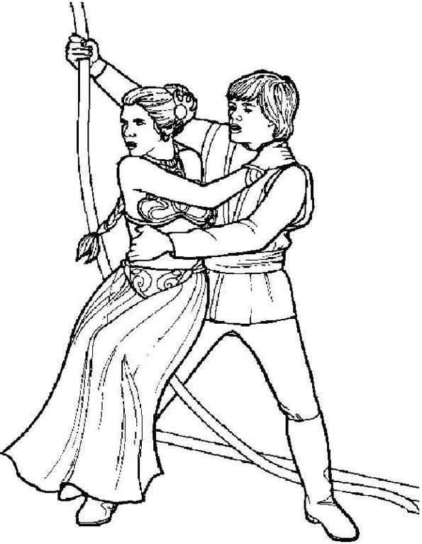Prinz und Prinzessin von Star Wars