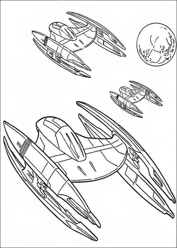 drei Raumschiff star wars ausmalbilder