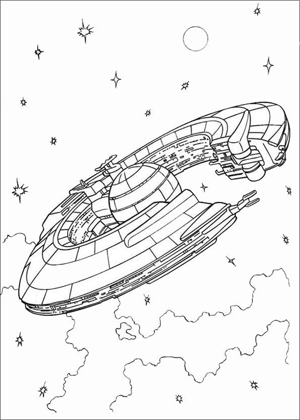 Raumschiff-Stadt star wars ausmalbilder