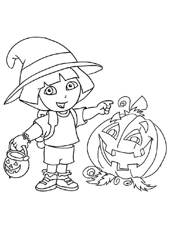 malvorlagen dora halloween 11