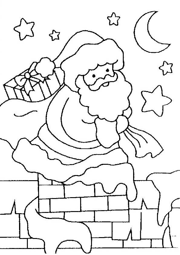 Weihnachtsmann von Geschenken