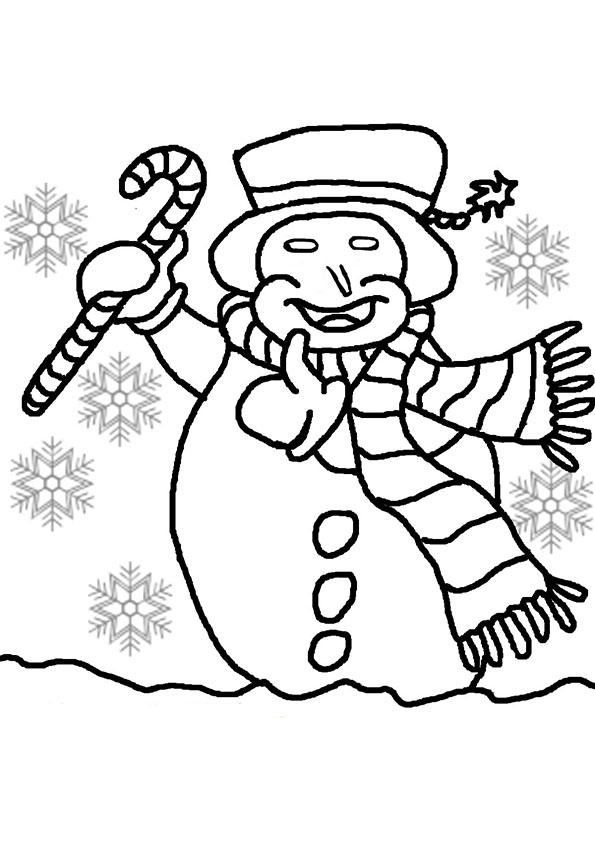 Glücklichem Schneemann