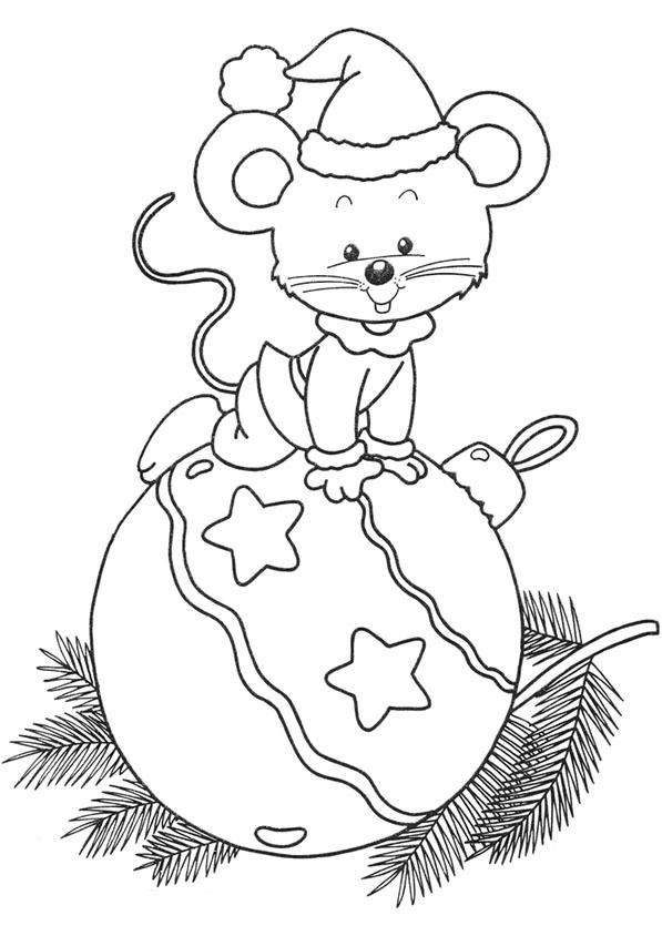 Weihnachtskugel mit einer Maus