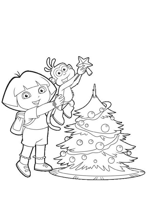 dora und boots im weihnachten