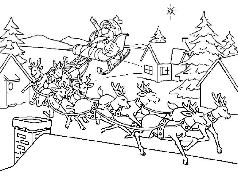 weihnachten schlitten malvorlagen