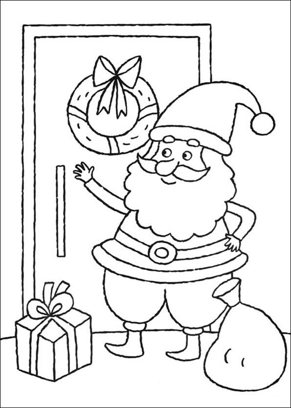 Weihnachtsmann an der Tür