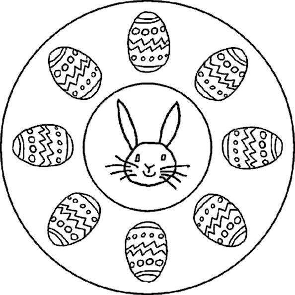 mandala 2 von Ostern zum ausdrucken