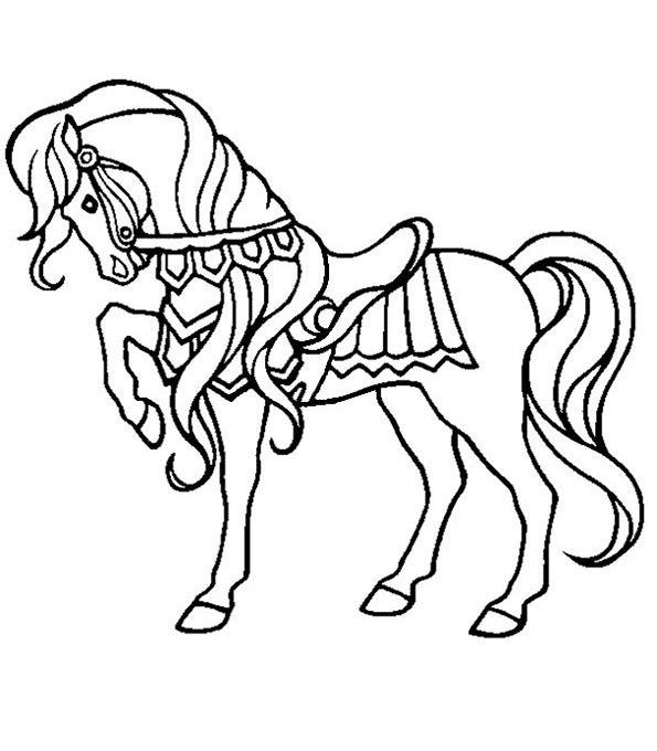 pferd zum ausmalen 34