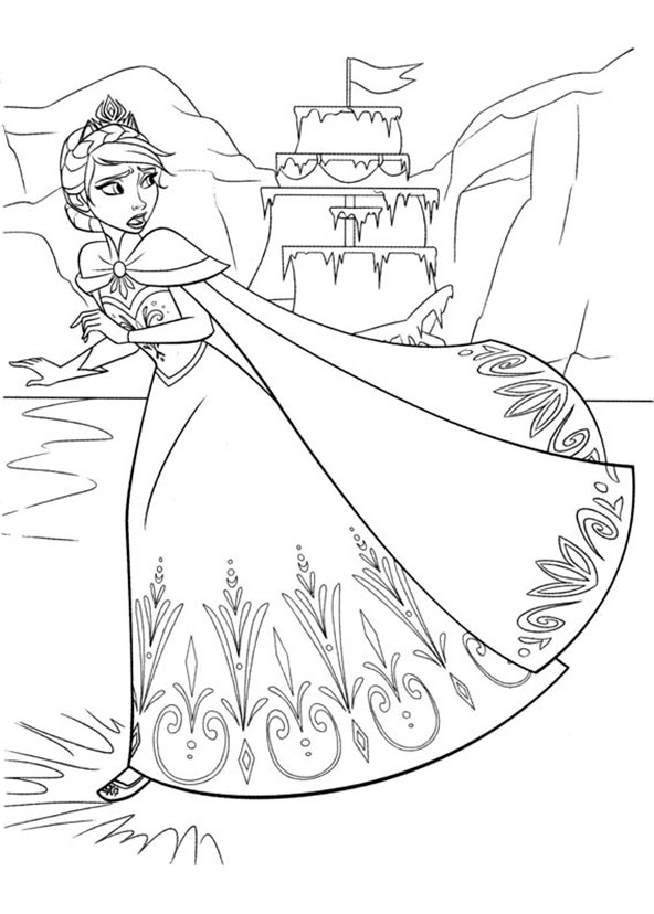 ausmalbilder eiskönigin 1
