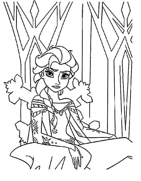Ausmalbilder Eiskönigin 9