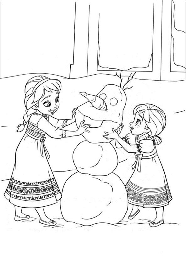 Ausmalbilder Eiskönigin 11