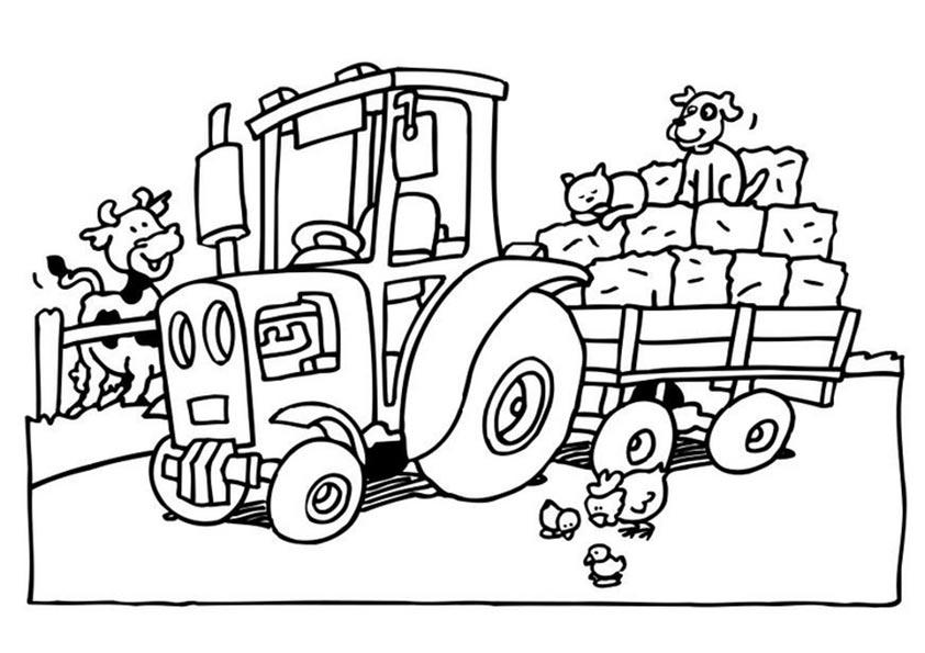 traktor zum ausmalen 1