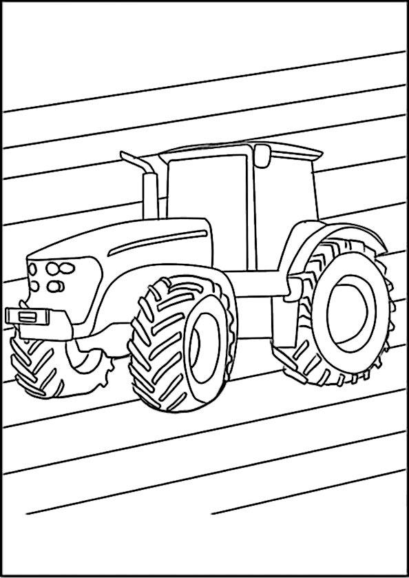 ausmalbilder traktor 6