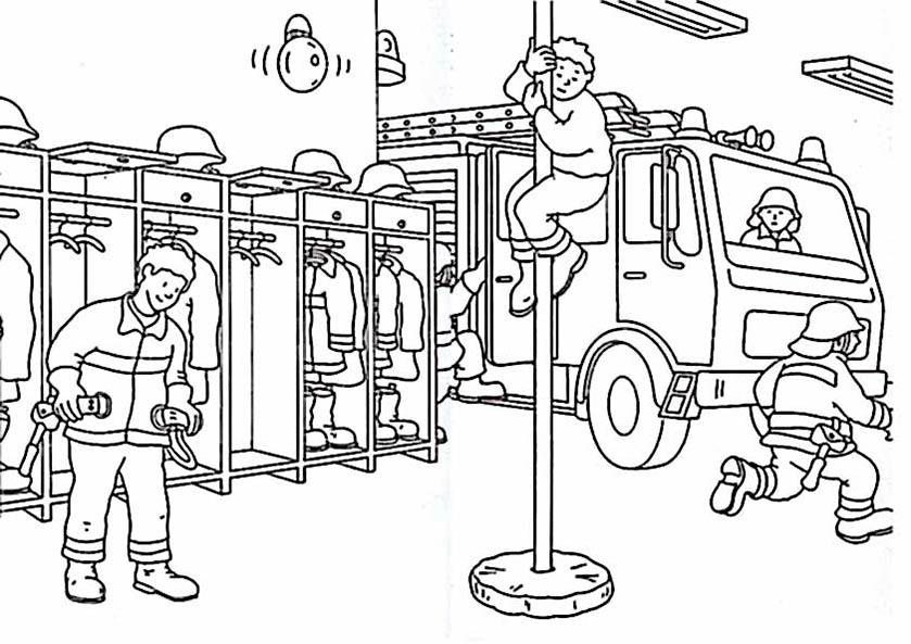 Feuerwehr 4 zum ausmalen