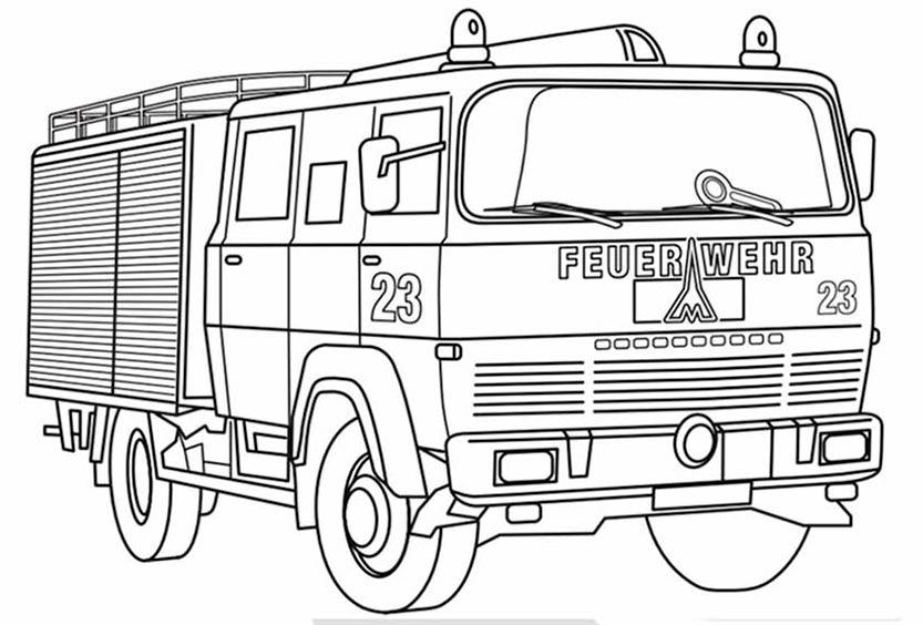 Feuerwehr 8 zum ausmalen