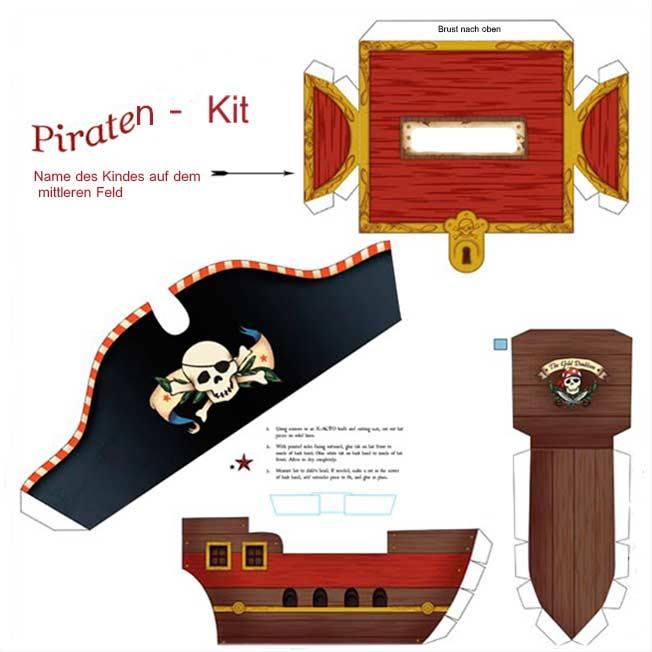 bastelvorlagen piraten für kinder