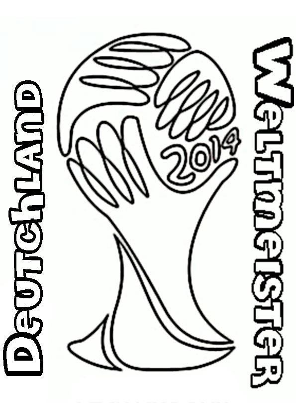 Zeichnung Trophy Deutschland Weltmeister Brasil 2014