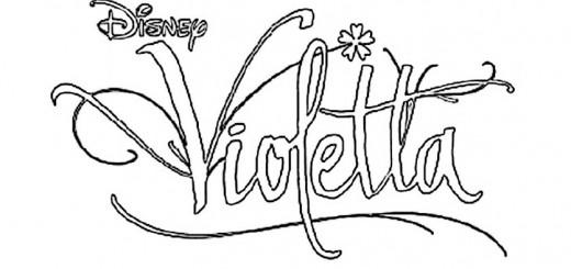 Logo Violetta zum ausmalen