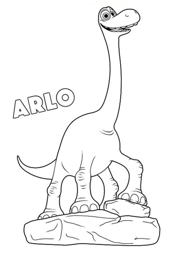 Der Gute Dinosaurier, Arlo ausmalbilder