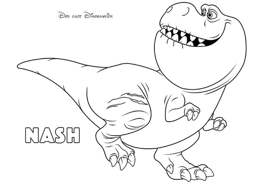Nash, Der Gute Dinosaurier ausmalbilder