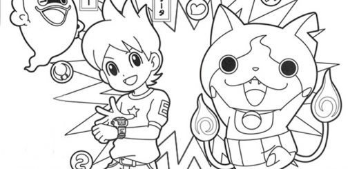 Yo Kai Watch. Ausmalbilder -4-
