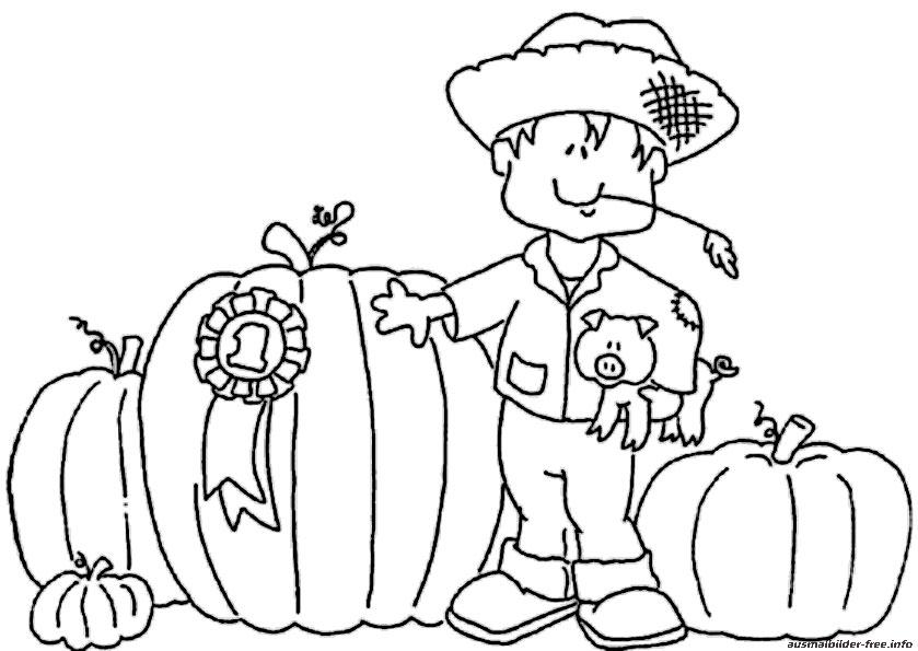 Ausmalbilder Herbst und Halloween