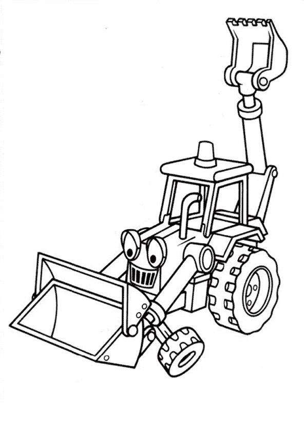 Ausmalbilder Bagger. Bild 16 zum ausdrucken