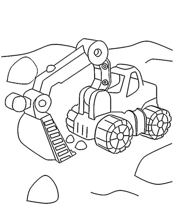 Ausmalbilder Bagger. Bild 18 zum ausdrucken