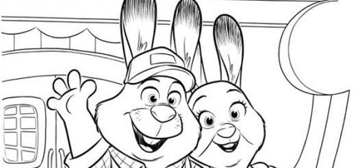 Ausmalbilder zoomania-Bonnie und Stu Hopps. 3