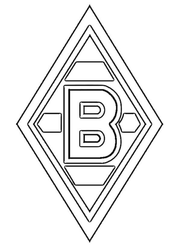 Borussia Moenchengladbach Wappen zum ausmalen