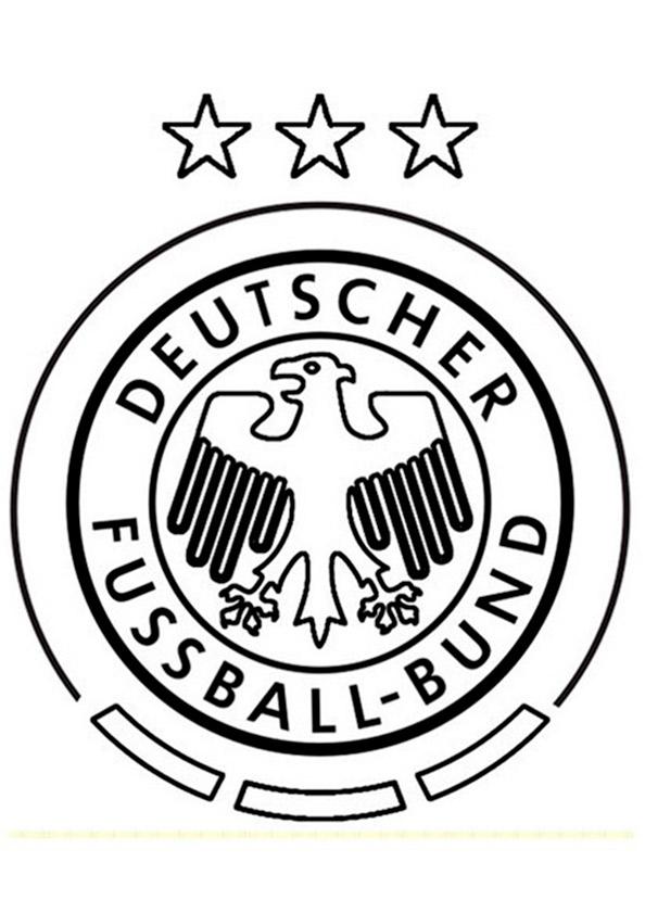 Deutsch Fussball Mannschaft Wappen zum ausmalen