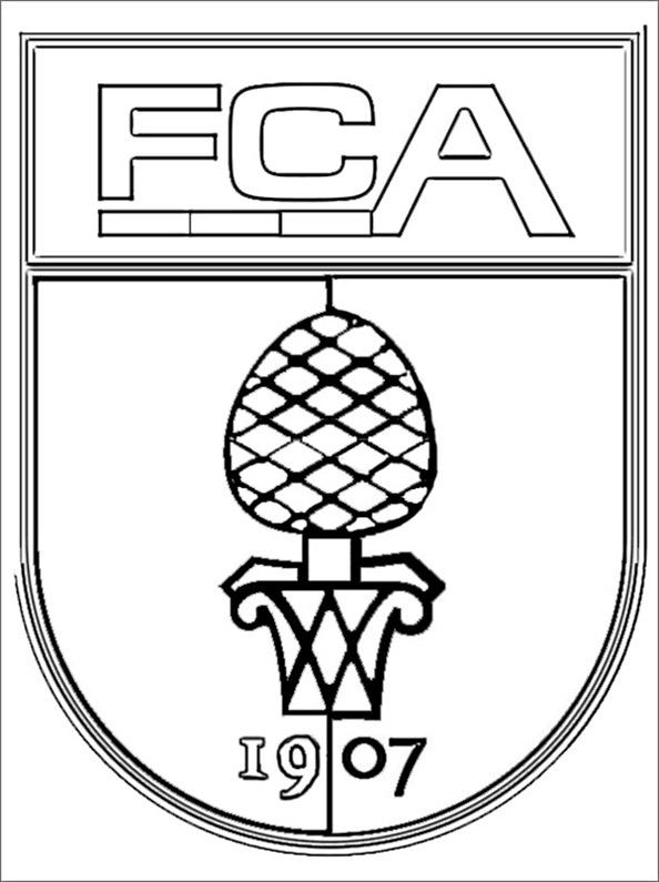 FC Augsburg Wappen zum ausmalen