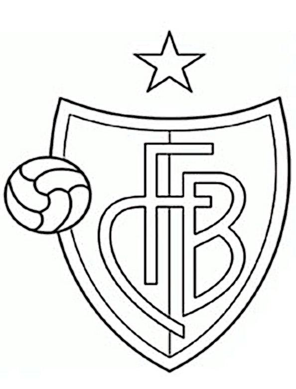 FC Basel Wappen zum ausmalen