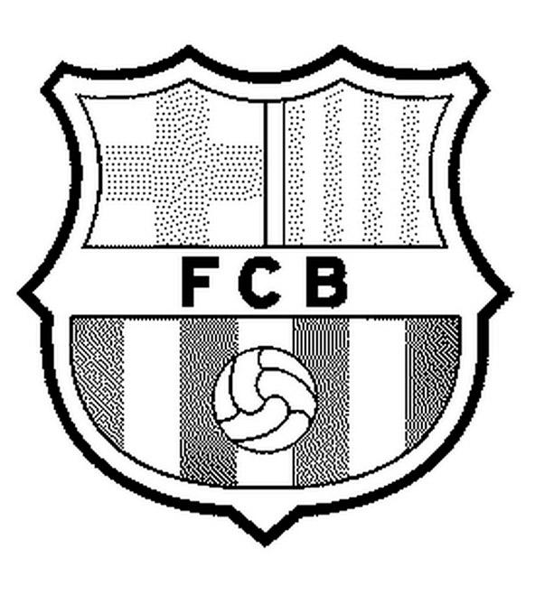 Fußball Wappen Barcelona zum ausmalen