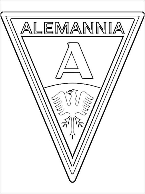 Fussball Alemannia Aachen wappen zum ausmalen